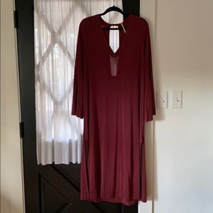 FP Wine Colored Dress Size Small